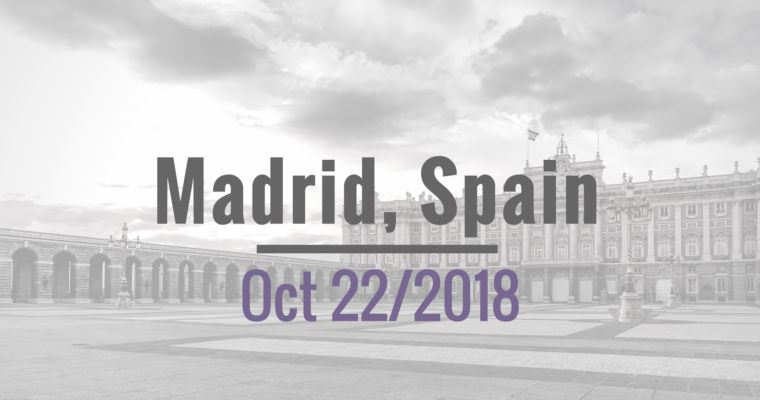 Oct 22, 2018: Madrid Workshop on IP for Plants, 2nd Edition