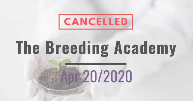 20/04/2020 – NEW! The CIOPORA Breeding Academy Marrakesh