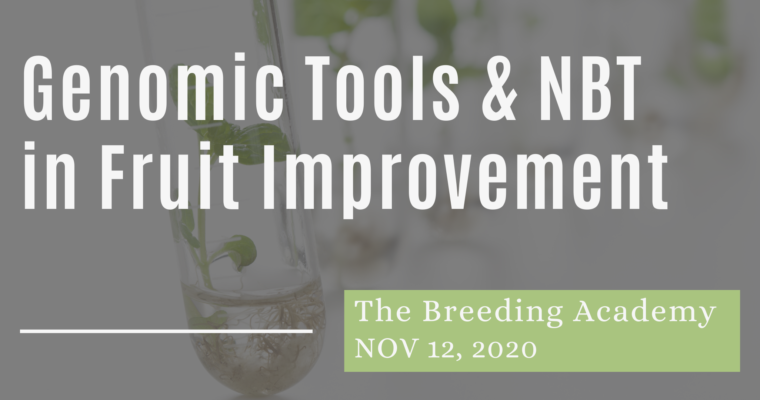 12/11/2020 – Application of Genomic Tools and NBT in the Fruit Improvement Sector