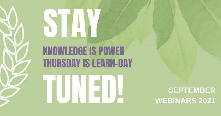 Stay tuned for the webinar series 3/2021!