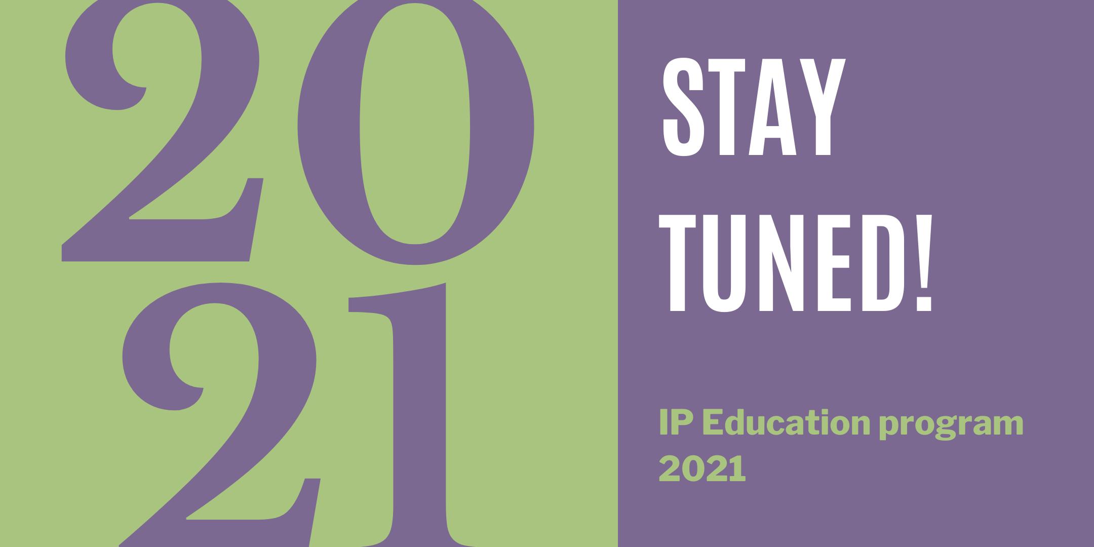 Stay tuned for the webinar (& workshop) program 2021!